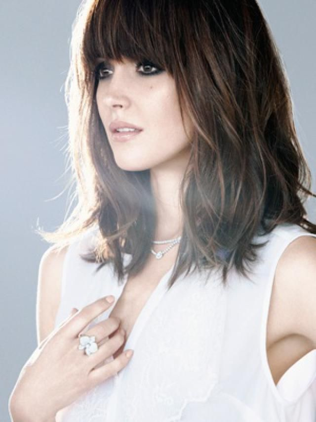 Photos: See the Most Flattering Haircut on Everyone: Add Side-swept or Blunt Bangs to Your Cut