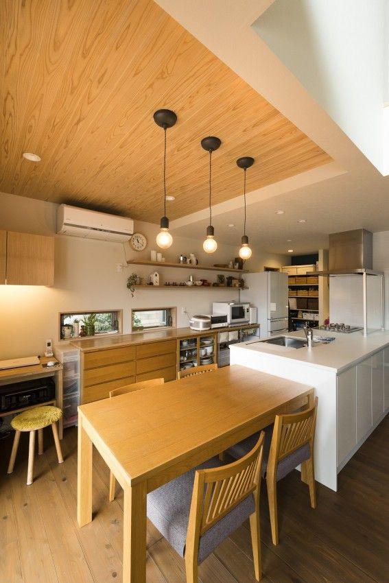 天井は高さ 素材を変えて空間デザインしました 家 注文住宅