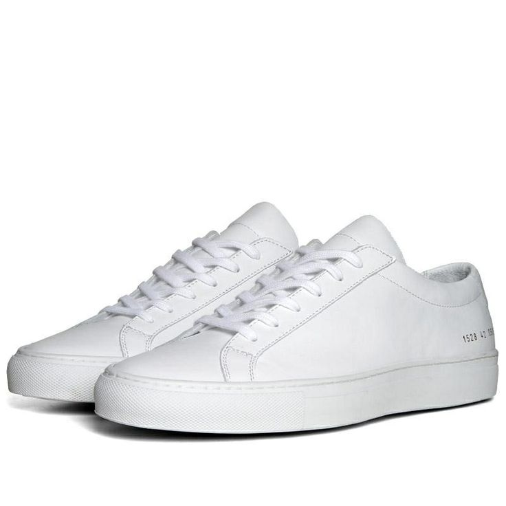 All white Common Project Achilles low #commonprojects