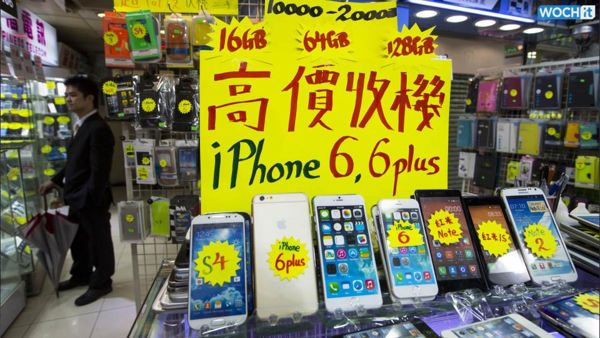 A glum sign for Apple in China, as smuggled iPhones go begging.