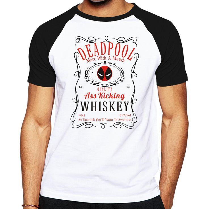 Deadpool Whiskey T-shirt //Price: $15.00 & FREE Shipping //     #batman #deadpool #marvelc #dc