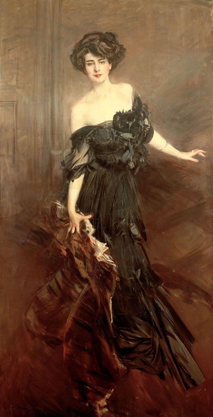 """""""Mademoiselle De Nemidoff"""" 1908,  Giovanni Boldini,  Olio su tela,   Collezione privata"""