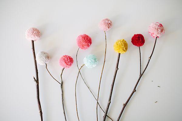 DIY Pom Bouquet! LOVE this unique idea...so cheery and bright! #poms #pombouquet