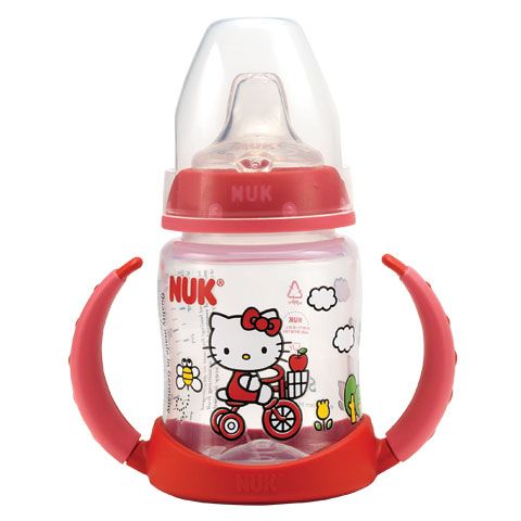 NUK [my favorite brand 4 baby] has a Hello Kitty Learning Sippy Cup [that I discovered online and haven't seen in stores]! Ordering a couple pronto!!!