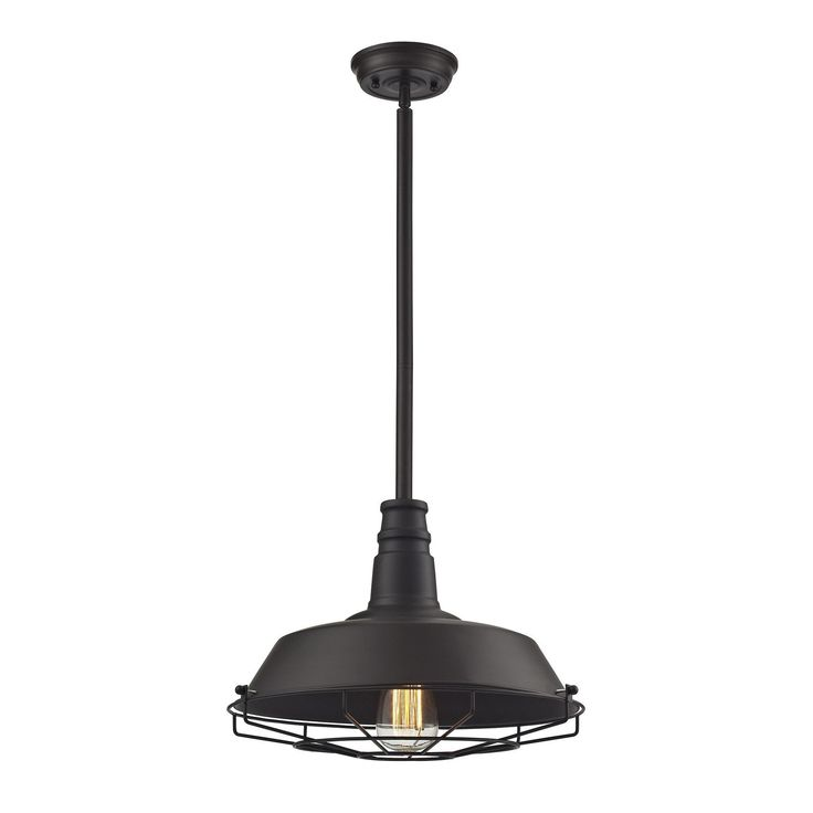 elk lighting warehouse pendant collection oil rubbed bronze finish