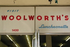 Woolworth's, and most drug stores had lunch counters, or at least soda