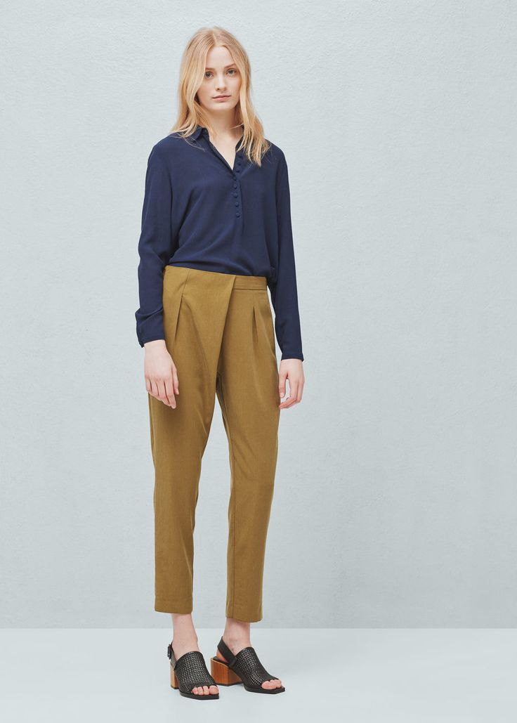 Soft fabric trousers | MANGO