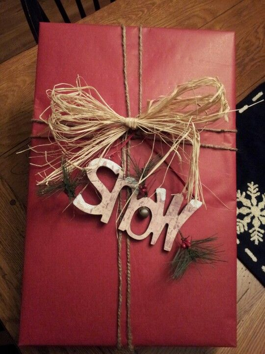 Country Christmas, love the wrapping