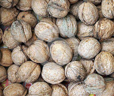 Many walnuts on a plate