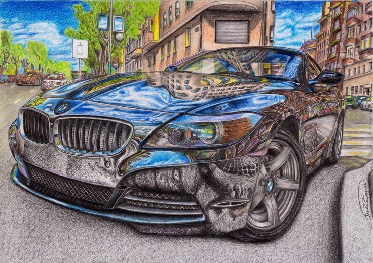 BMW Z4, 55 hours work :) A4 size.