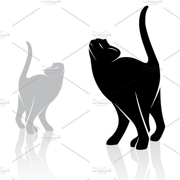 Vector image of a cat.. Pet Icons