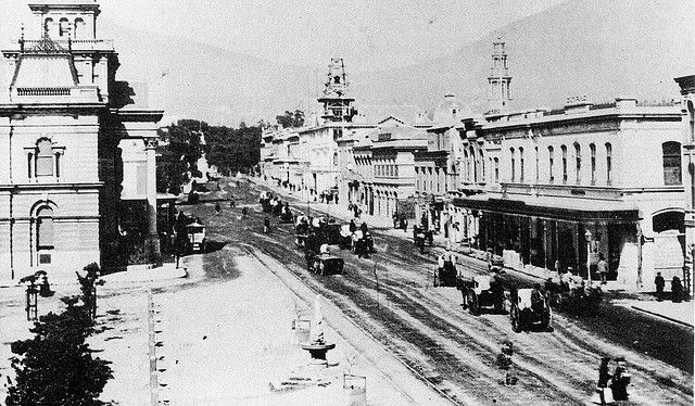 Adderley Street, With The Standard Bank Building - 1883