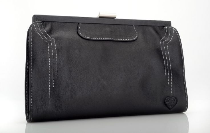 The Contessa 1930s inspired purse/clutch bag in Ebony.