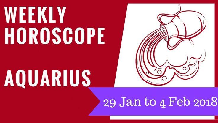 Aquarius weekly horoscope 29 January to 4 February 2018 #Aquarius #horoscope #astrology #forecast