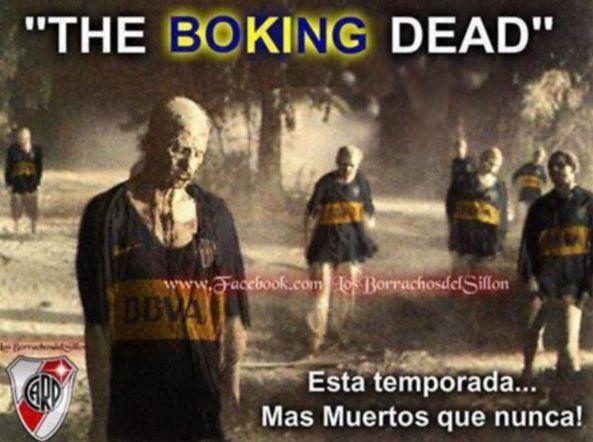Boca Juniors quedó eliminado de la Copa Libertadores, y los hinchas de River Plate rápidamente idearon nuevas cargadas para su eterno rival.