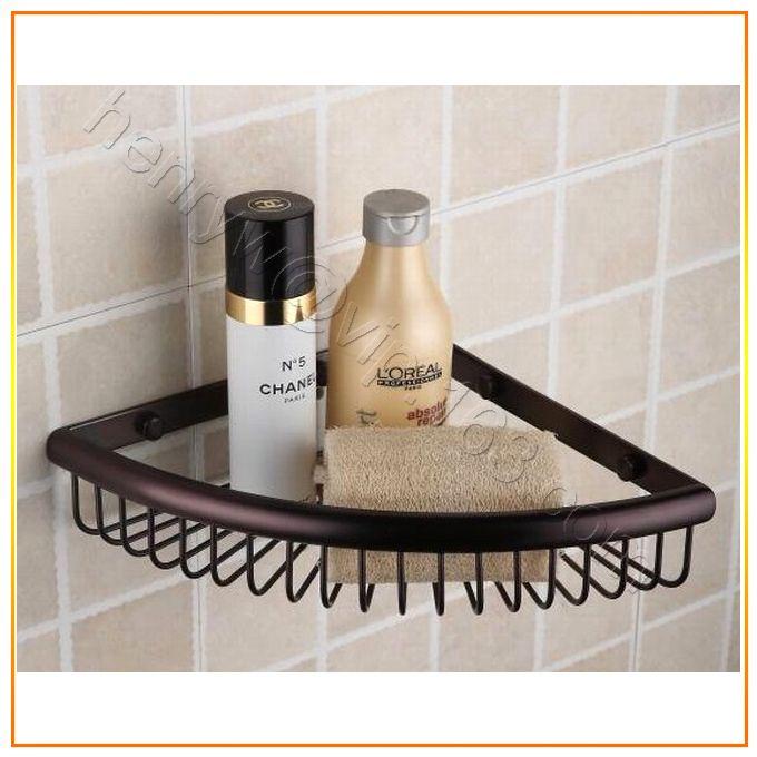 L15226- Luxury Wall Mounted Brass Corner Shelf Bronze Finish Corner Bathroom Self #Affiliate