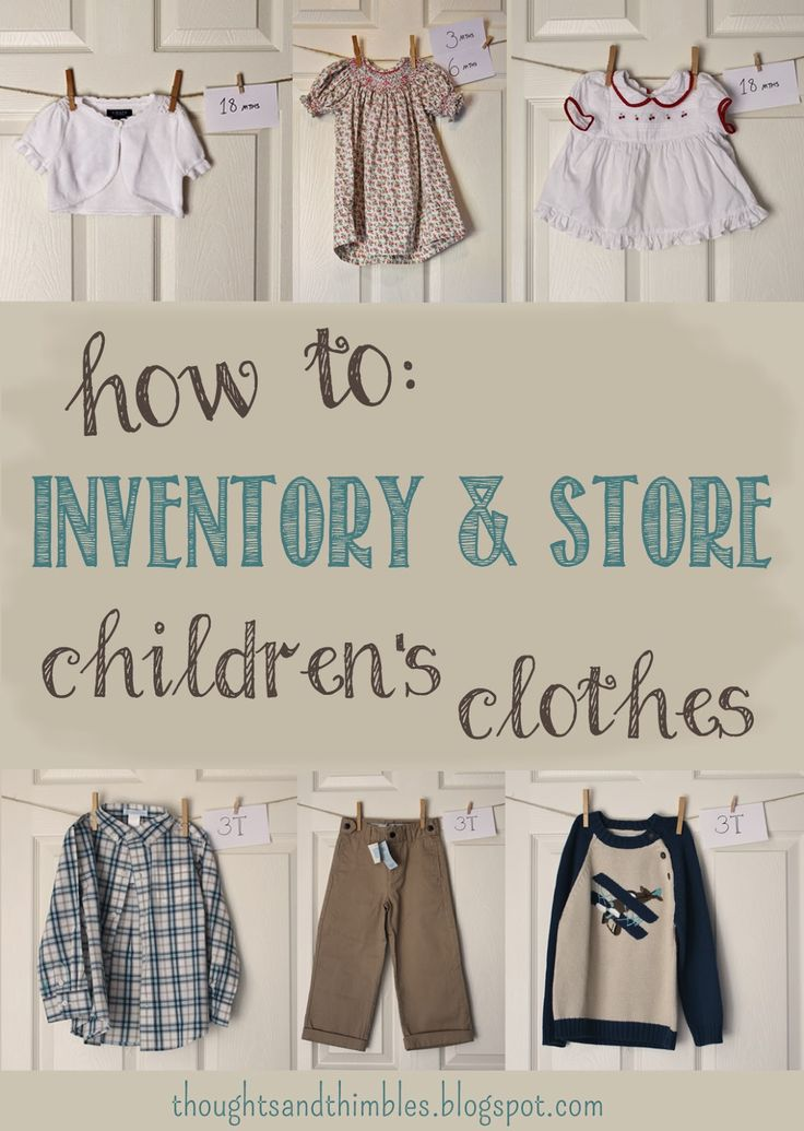 Thoughts and Thimbles: In the Kids' Closet: How I Inventory and Store Children's Clothes