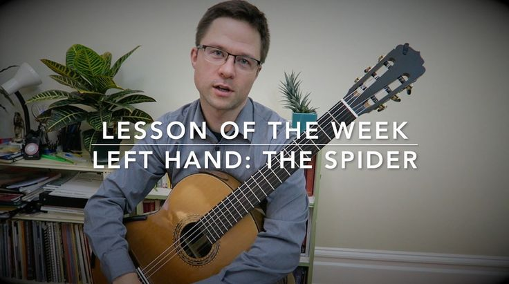 "Video Lesson of the week: ""The Spider"" Left Hand Finger Independence and Stretch Exercise. This exercise comes from one of the most popular books for the classical guitar: Pumping Nylon by American guitarist Scott Tennant. http://www.thisisclassicalguitar.com/lesson-the-spider-exercise/ #guitar #classicalguitar"