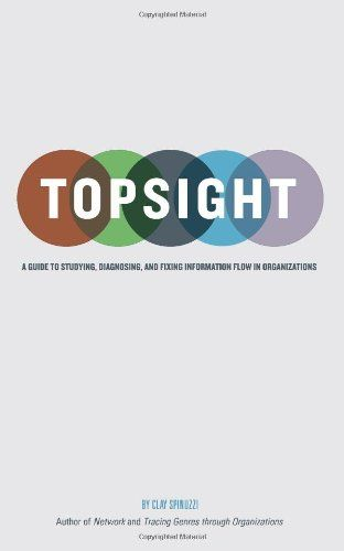 Topsight : a guide to studying, diagnosing, and fixing information flow in organizations / Clay Spinuzzi. Bibsys: http://ask.bibsys.no/ask/action/show?kid=biblio&cmd=reload&pid=133976505