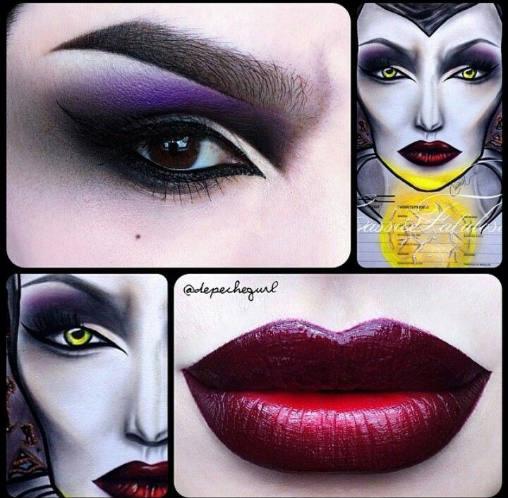 Maleficent -elokuvasta inspiroitunut meikki   Maleficent movie inspired dramatic makeup