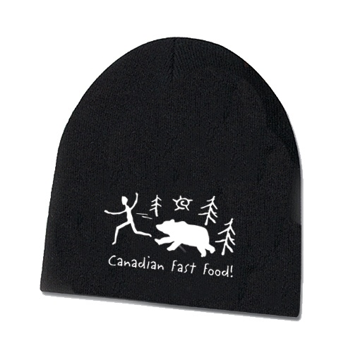 Touque - Canadian Fast Food - Touques are Acrylic rib knit. One size fits all. $16.95 per unit. Not including shipping and taxes (13% HST in Canada).