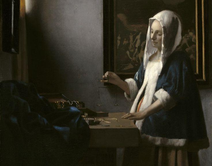 Vermeer_Jeune Femme +á la balance_Washington (Vermeer_Jeune Femme +á la balance_Washington)