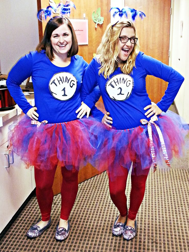 thing 1 and thing 2 work appropriate halloween costume - Halloween At Work Ideas