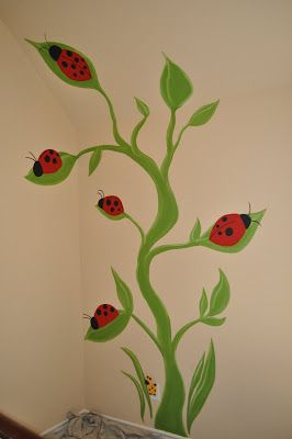 This precious lady bug room was the second of the three rooms I                                                      completed recently for ...