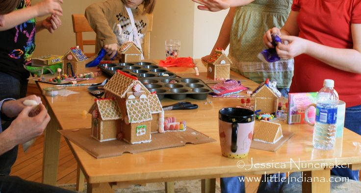 Homemade Graham Cracker Houses and Glue Recipe - littleindiana.com