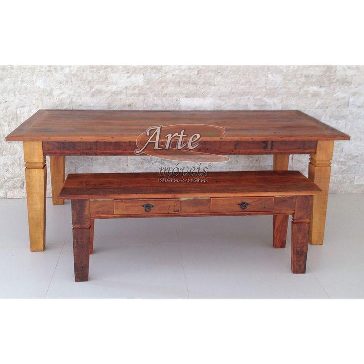 Confira esta nova mesa rústica com ou sem o banco!! Veja também nossas outras mesas em nosso site, visite-nos!!