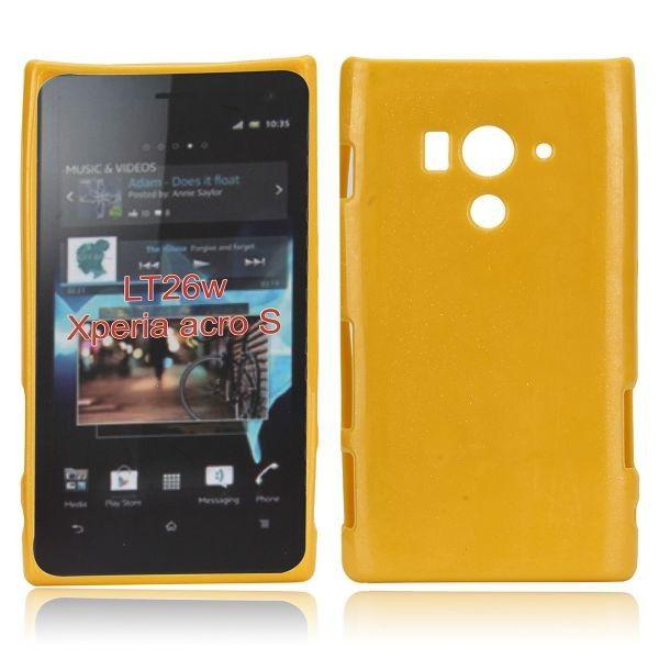 Glitter Shell (Keltainen) Sony Xperia Acro S Silikonisuojus