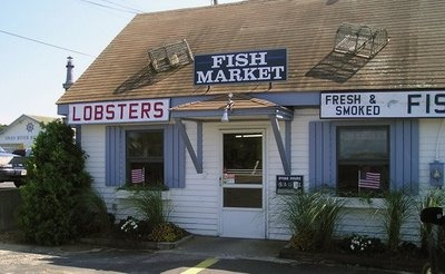Swan River Restaurant and Fish Market...just a 5 minute walk from the cottage my family rented for 35 years at the Cape. We'd come back from a day at the beach and then run to the fish market all sandy and salty and get some steamers, mussels, lobsters....ahhh, can't beat that!