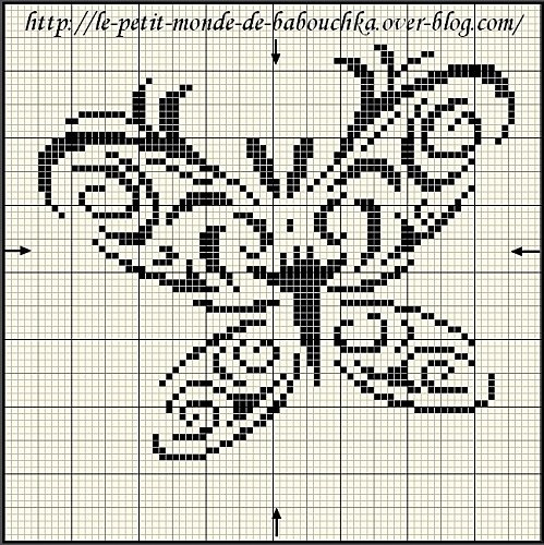 free chart butterfly. click on the link below it that says: Pour télécharger le diagramme, clique-clique ICI