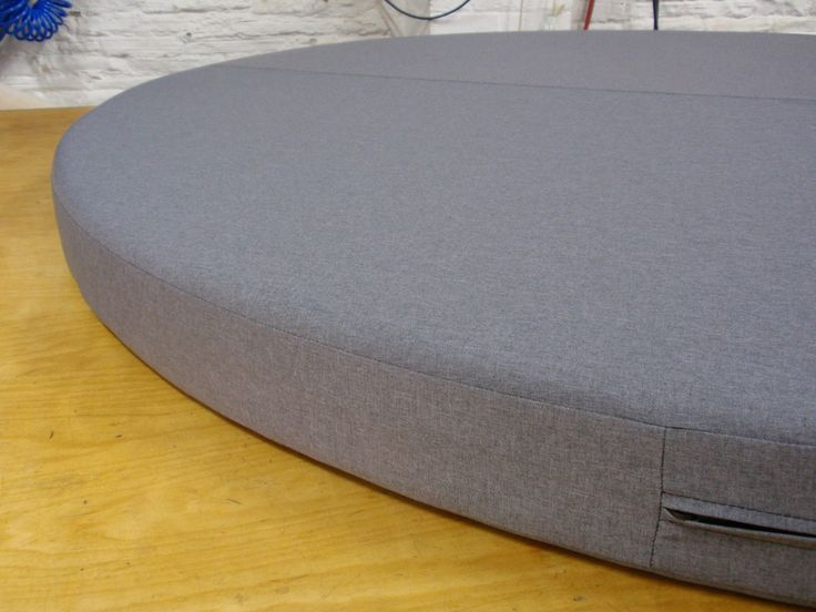 Oversized Foam Cushion With Saddle Stitch In The Middle And A Hidden Zip. Outdoor  Cushions