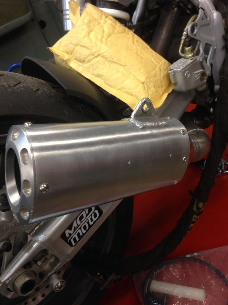 Muffler repacked and riveted together
