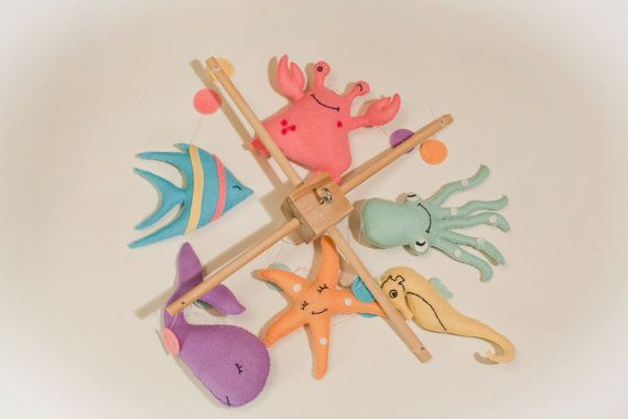 Mar móvil bebé móvil vivero decoración móvil móvil de cuna