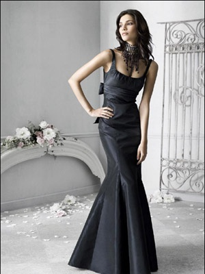 with my wedding dress we need a stronger sense of drama from the bridesmaid dresses... this might be good for Tereasa or Leanne. (Amanda I will reimburse you for your dress if it is not returnable!!): Wedding Dressses, Style, Wedding Ideas, Wedding Dresses, Bridesmaid Dresses, Black Dress