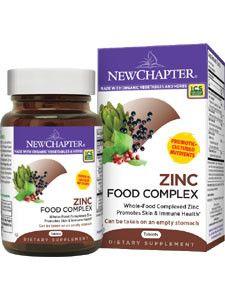 New Chapter- Zinc Food Complex 60 tabs