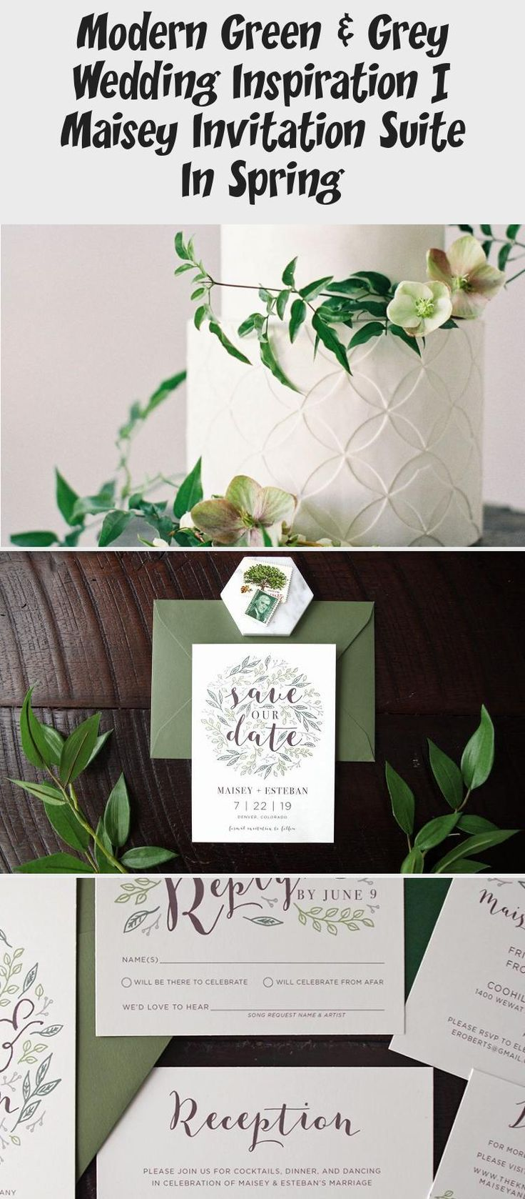 Botanical illustration Green & Grey Wedding inspiration perfect for a modern garden wedding or an urban wedding dripping with greenery. Palette of greens - emerald and sage. Earthy and organic with clean, modern touches. Bridesmaid dresses #BridesmaidDresses2019 #BridesmaidDressesPurple #BridesmaidDressesSequin #WeddingBridesmaidDresses #BridesmaidDressesCoral