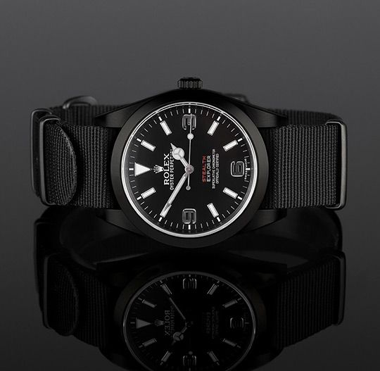 Rolex British Military Stealth -MKII customized by Project X (limited edition)