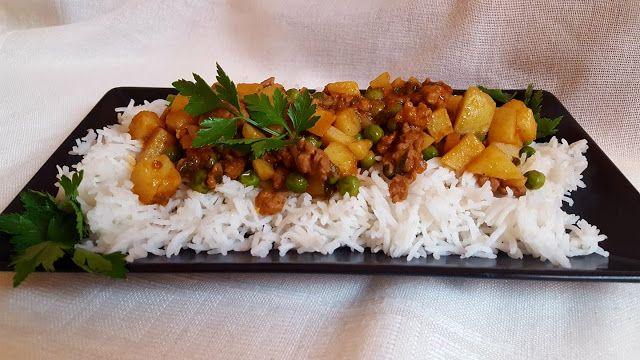 Само за гладни - Only for hungry: Мляно месо с Гарам масала и ориз басмати