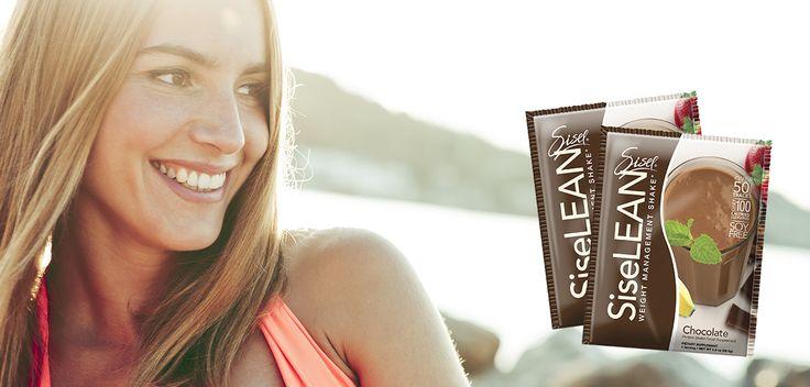 Beautiful woman drinking SiseLEAN Chocolate