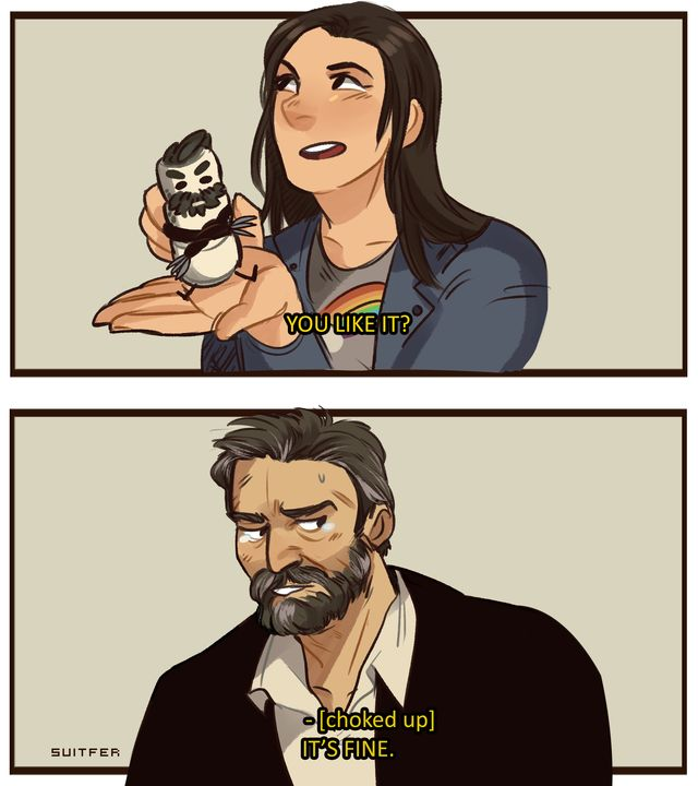 Wolverine and Laura/X 23.