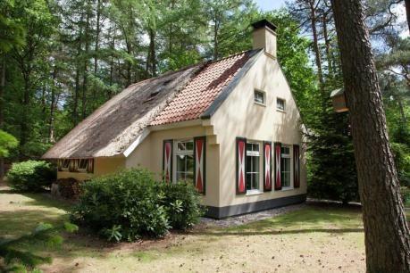 Landgoed 't Wildryck - Landhuis A4 Plus  De vrijstaande landhuizen voor zes personen (NL-1005 NL-1006 en NL-4505) en de variant voor vier personen (NL-1002 en NL-1003) zijn in 1999 afgebouwd en liggen op ruime kavels verspreid over het beboste terrein. Ze bieden de sfeer van toen en het comfort van nu. Vele huizen zijn voorzien van een rieten dak. De inrichting is sfeervol en compleet deels met gezellige houtkachel of potkachel. Sommige huizen hebben een bedstee (met name geschikt voor…