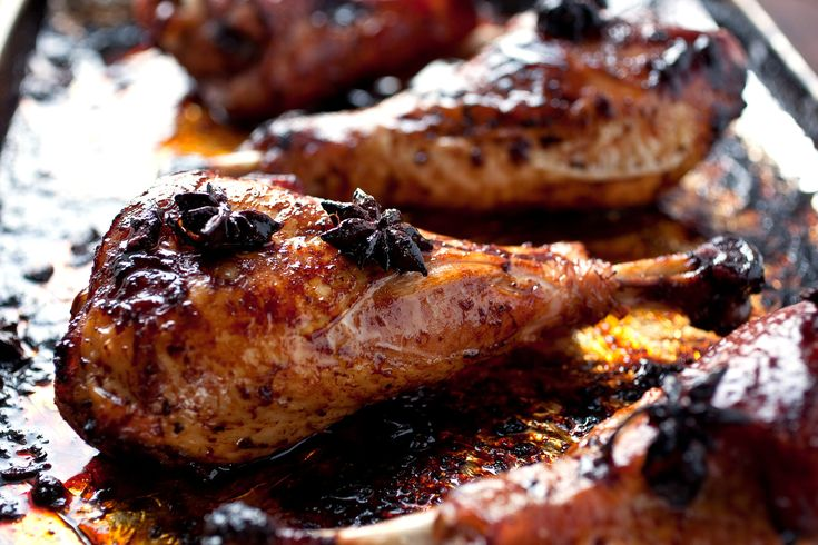 NYT Cooking: Roasted Turkey Drumsticks With Star Anise and Soy Sauce