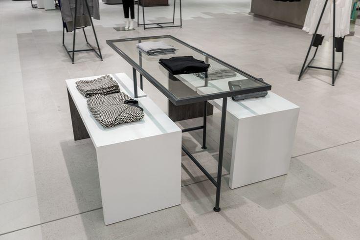 Jarrold Norwich New Fashion Floor  #retail #fixtures #tables #fashion #powdercoat #glass #department #store #midfloor #display
