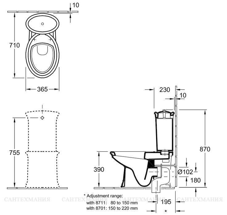 Унитаз-компакт Villeroy & Boch Amadea 7695 10R1 CeramicPlus  109773