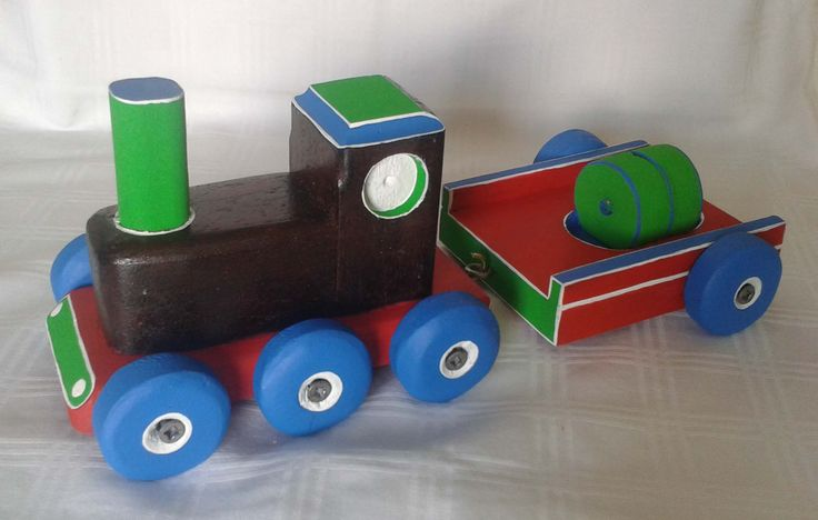 toy train in recycled woods