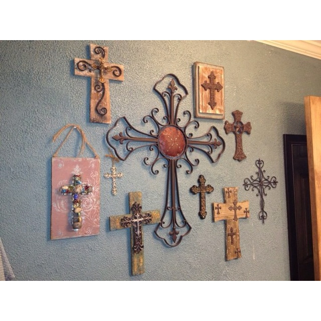Cross Collage By TJ & Brandy (BSSD = mount some of our smaller crosses onto board, etc.)