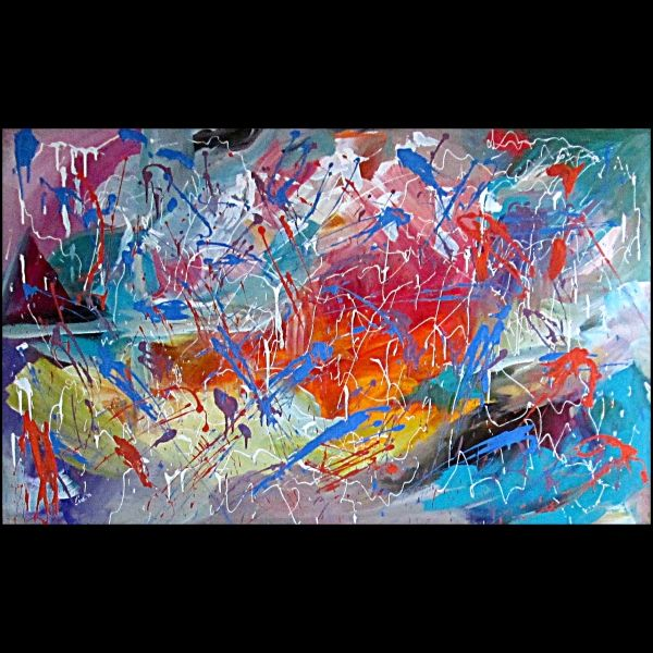 OBRAZ NA PRODEJ - FOR SALE - obchod.artvernisaz.cz Aprílový lejak Abstraktná maľba formát: 100x160cm akrylová maľba na plátne 10550,00 Kč Příspěvky z ArtVernisáž.cz Prodejní a prezentační galerie